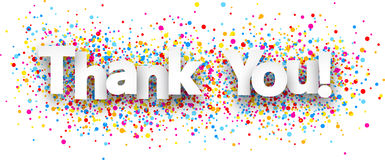Thank You Paper Banner. Stock Image