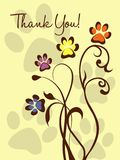 Thank You! Paw Flowers Stock Images