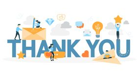 Thank you phrase animation. Idea of greeting. Flat motion graphic stock footage