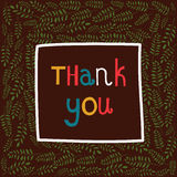 Thank you phrase in a frame of branches Royalty Free Stock Photo