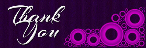Thank You Pink Ring Banner Stock Photos