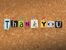 Thank You Pinned Paper Concept Illustration Stock Photo