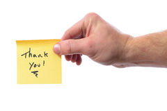 Thank you post it Royalty Free Stock Photography