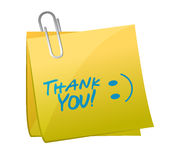 Thank you post illustration Royalty Free Stock Photo
