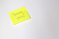 Thank you post-it royalty free stock photos