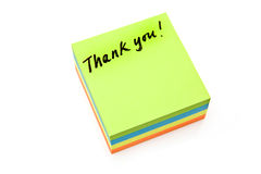 Thank you post-it-note Stock Photos