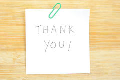 Thank You Post-it Note Stock Photo