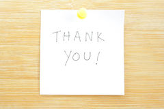 Thank You Post-it Note Stock Photography