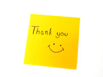 Thank you on post it note royalty free stock photo