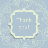 Thank you postcard. Exquisite postcard template with traditional oriental ornament Stock Image