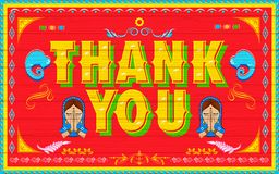 Thank You Poster Stock Image