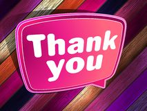 Thank you poster on a wooden. EPS 10 Royalty Free Stock Images