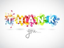 Thank you quotation with colorful abstract backgrounds Royalty Free Stock Photos