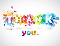 Thank you quotation with colorful abstract backgrounds Stock Images