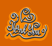Thank You quote hand drawn caligraphy Stock Photography