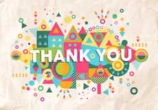 Thank You Quote Poster Design Background Royalty Free Stock Images