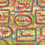 Thank you red stamp style seamless pattern Royalty Free Stock Photo