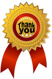 Thank You Ribbon. An image of a thank you ribbon vector illustration