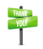 Thank you road sign illustration design Stock Photo