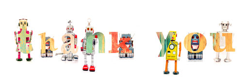 Thank you robot Royalty Free Stock Photography