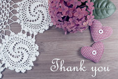 Thank You. Romantic backgrouond. Soft filter Royalty Free Stock Images