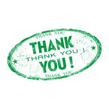 Thank you rubber stamp Royalty Free Stock Photos