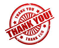 Thank you rubber stamp illustration Royalty Free Stock Image