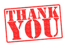 THANK YOU Rubber Stamp. Over a white background royalty free stock photography