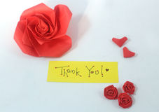 Thank you. Saying thank you with love Stock Photo