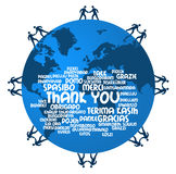 Thank you. In several world languages Royalty Free Stock Photography
