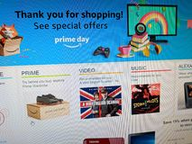 Thank you for shopping! Amazon Prime Day on Computer Screen