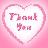 Thank You Shows Heart Shapes And Grateful Royalty Free Stock Images