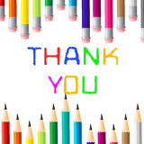 Thank You Shows Many Thanks And Grateful Royalty Free Stock Photography