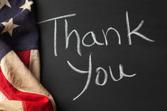 Thank you sign on a chalkboard Royalty Free Stock Photo