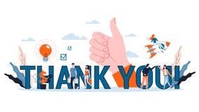 Thank you sign. Gratitude for business team member Web banner