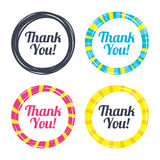 Thank you sign icon. Customer service symbol. Colored buttons with icons. Poker chip concept. Vector Royalty Free Stock Photos