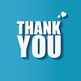 Thank you sign -  illustration. Blue background with thank you words Stock Image
