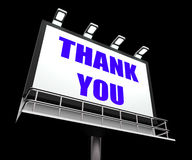 Thank You Sign Refers to Message of Appreciation Royalty Free Stock Photography