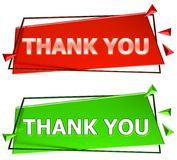 Thank you sign stock illustration
