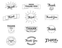 Thank you sign. Vector calligraphy design template royalty free illustration