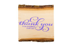 Thank You Sign. A thank you wedding sign against a white background Royalty Free Stock Image