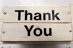 Thank you Sign. Sign with the words Thank you Royalty Free Stock Photo