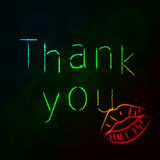 Thank you silhouette of lights Stock Image
