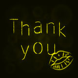 Thank you silhouette of lights Royalty Free Stock Images