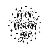 1000 Thank You. Social media lettering design. Handwritten phrase, vector illustration Stock Photography
