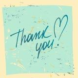Thank you. Social net. Vector illustration on orange background. Stock Photography