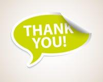 Thank you speech bubble as sticker / label