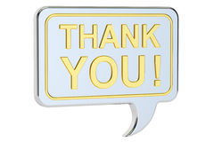 Thank you speech bubble concept, 3D rendering Stock Photo