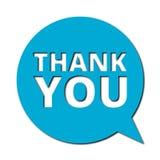 Thank you, Speech bubble. Speech bubble thank you, vector icon royalty free illustration