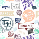 Thank you speech. Seamless pattern Stock Photography